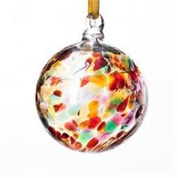 Pretty Little Angel Lampwork Christmas Ornament- Clear