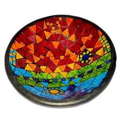 Glass Mosaic 30cm Large Blue Tile Egg Lamp