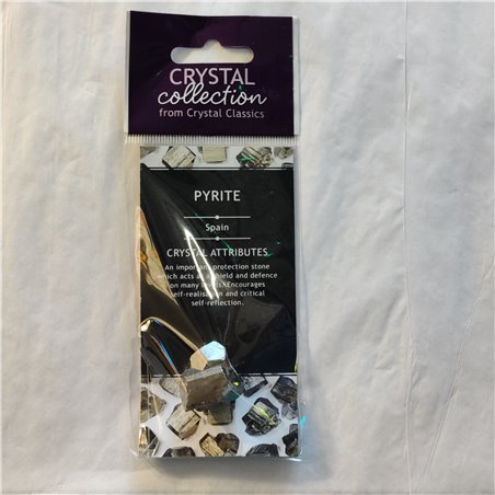 Pyrite Crystal 20-25mm & Info Card
