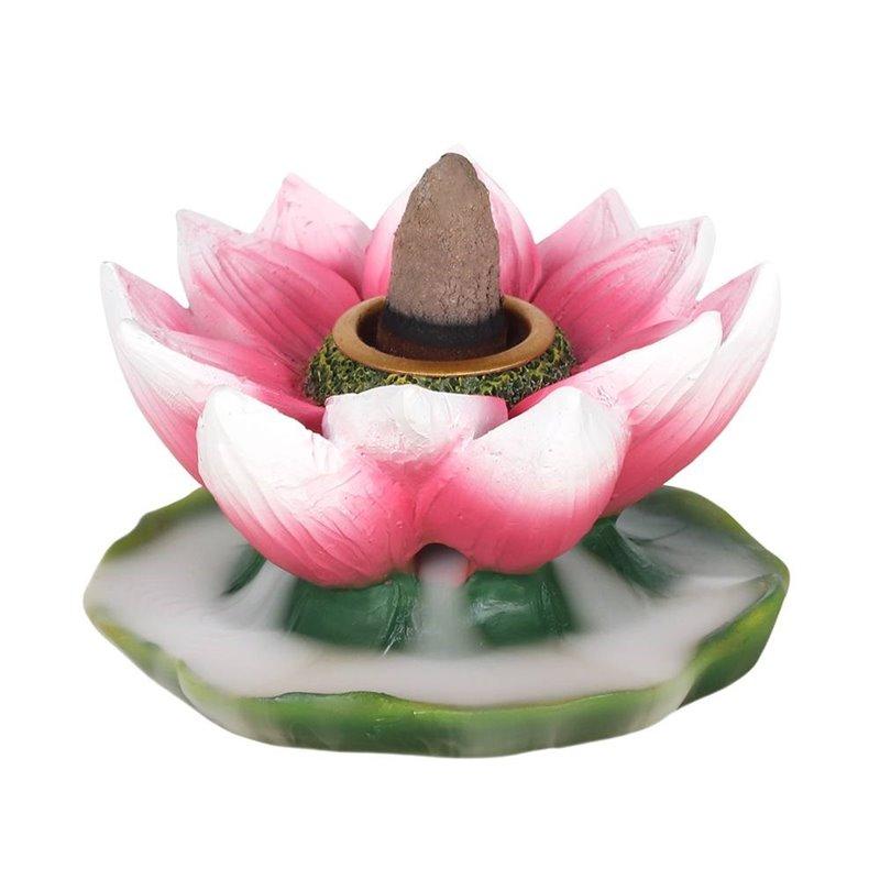 Coloured Lotus Backflow Incense Burner