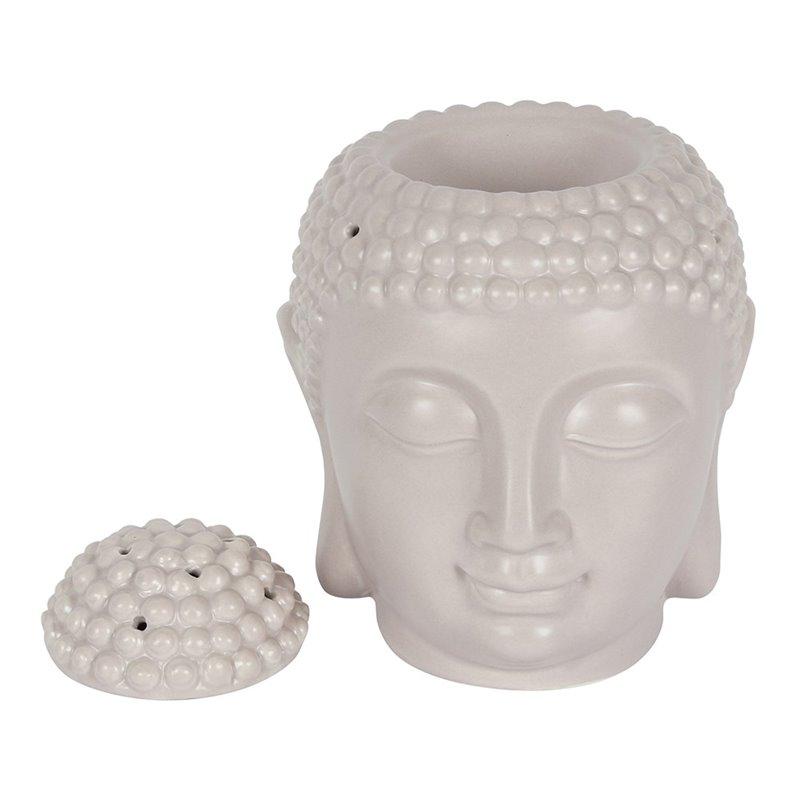 Large Grey Buddha Head Oil Burner