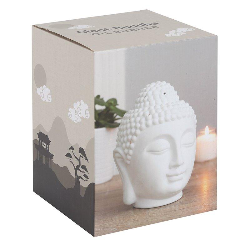 Large White Buddha Oil Burner