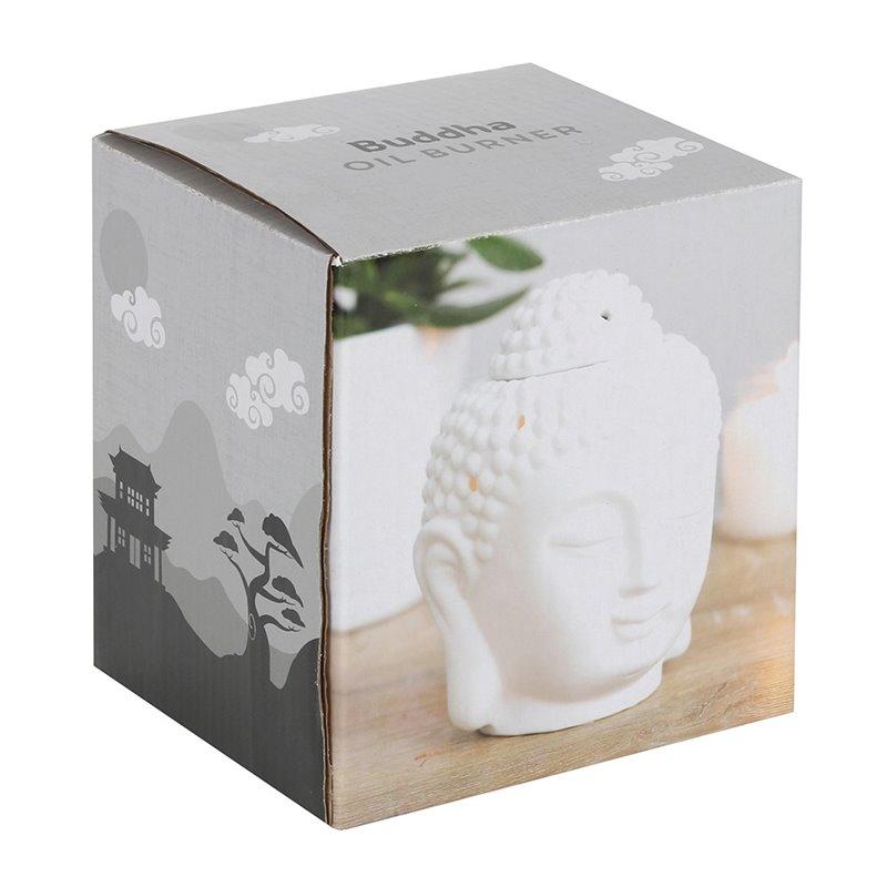 White Buddha Head Oil Burner