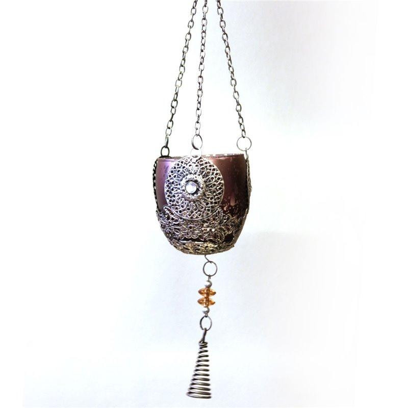 Glass Mosaic 20cm Medium Pink Rose Egg Lamp