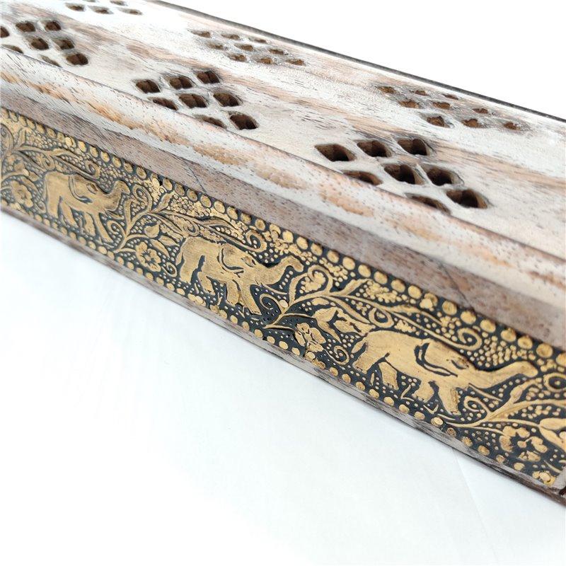 Elephant Incense Smoke Box Gold